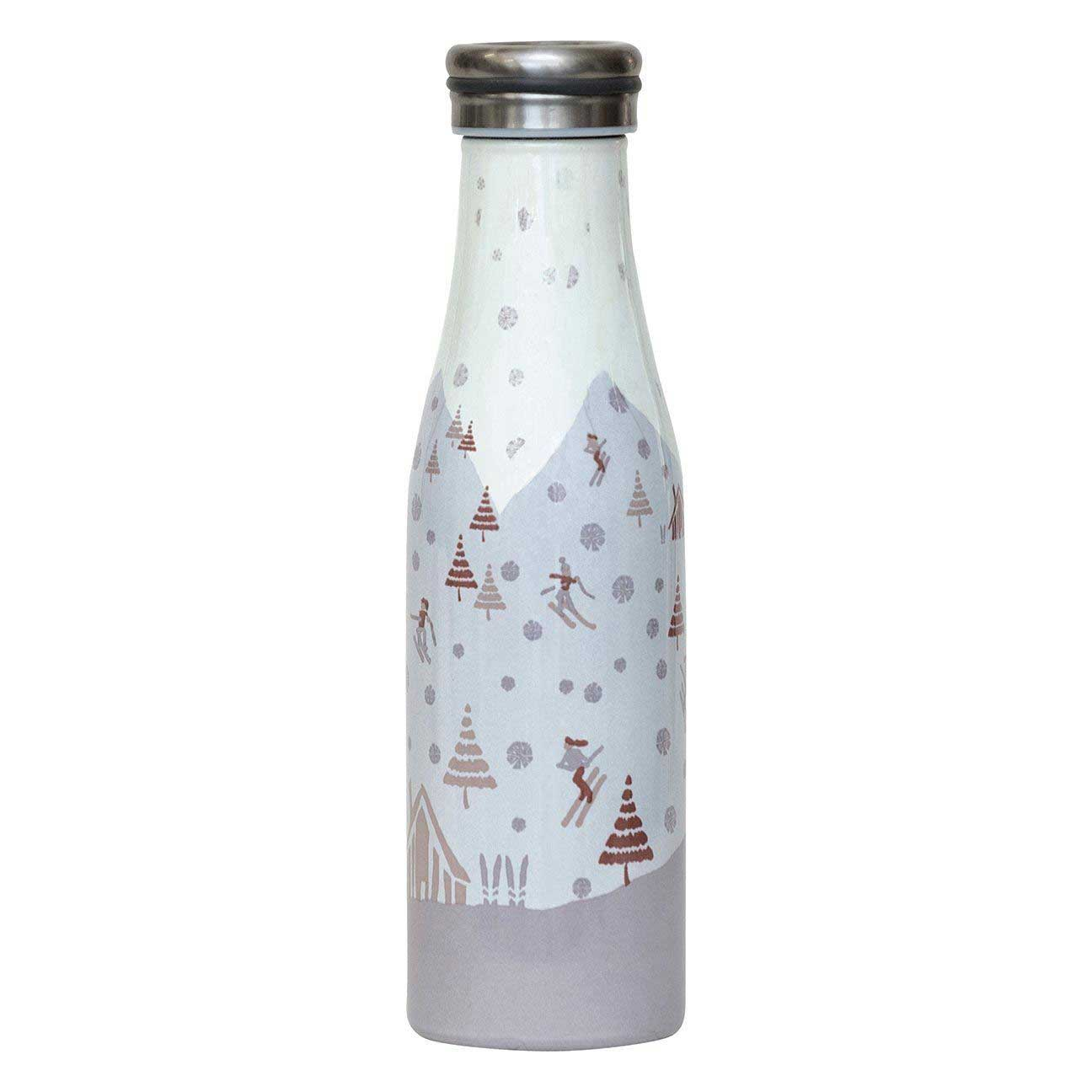 sk tan blu bottle - reusable water bottle in grey and beige