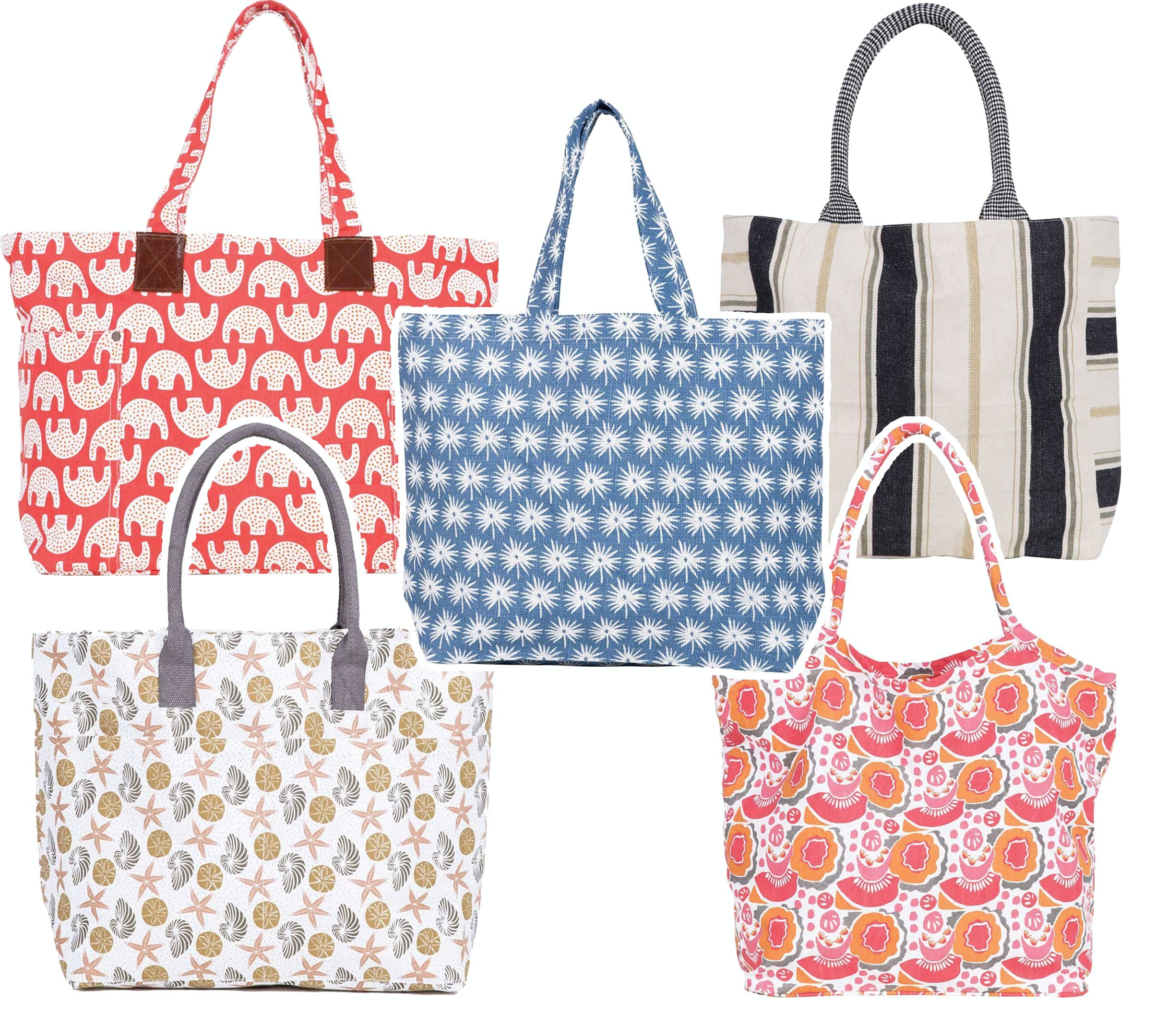 Collect all of our cute tote bags for the beach!
