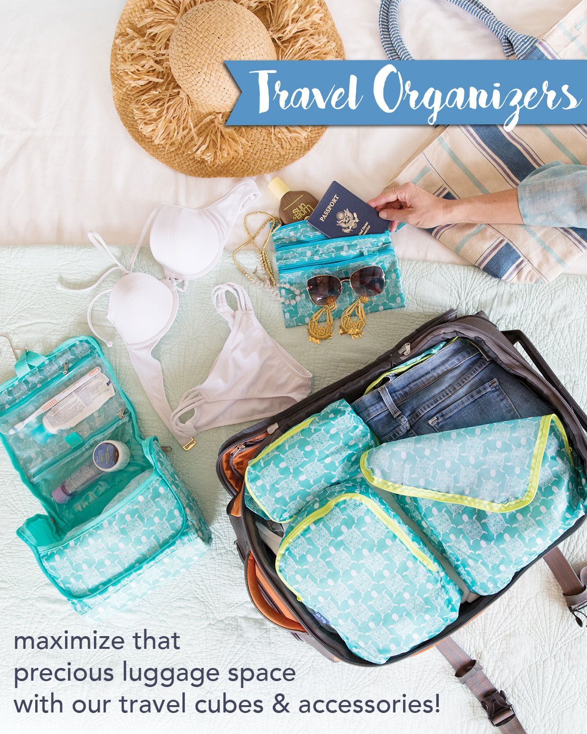 travel cubes and pouches keep you organized on vacation