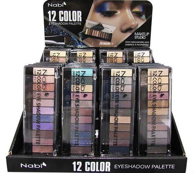 Wholesale Nabi 12 Color Eyeshadow Palette Display 48PCS (A502)
