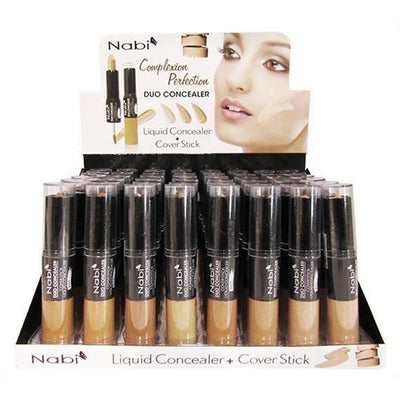 Wholesale Nabi Duo Concealer Liquid Concealer + Cover Stick Display 48PCS (A602)
