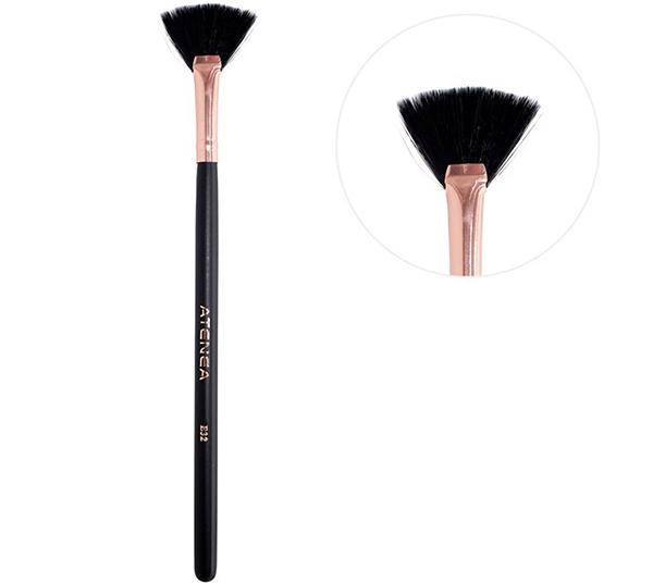 Atenea Black Rose Small Fan Brush - Wholesale Pack 12PCS (E32)