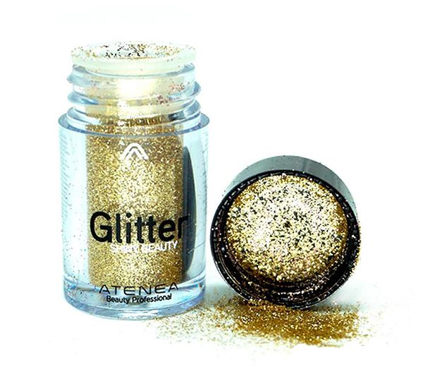 Atenea Glitter Shiny Beauty Light Gold - Wholesale Pack 20PCS (ES0469-8N)