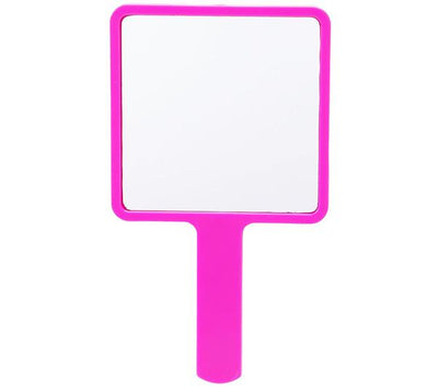 Beauty Creations Mini Hand Held Mirror 4 Styles Pink And White
