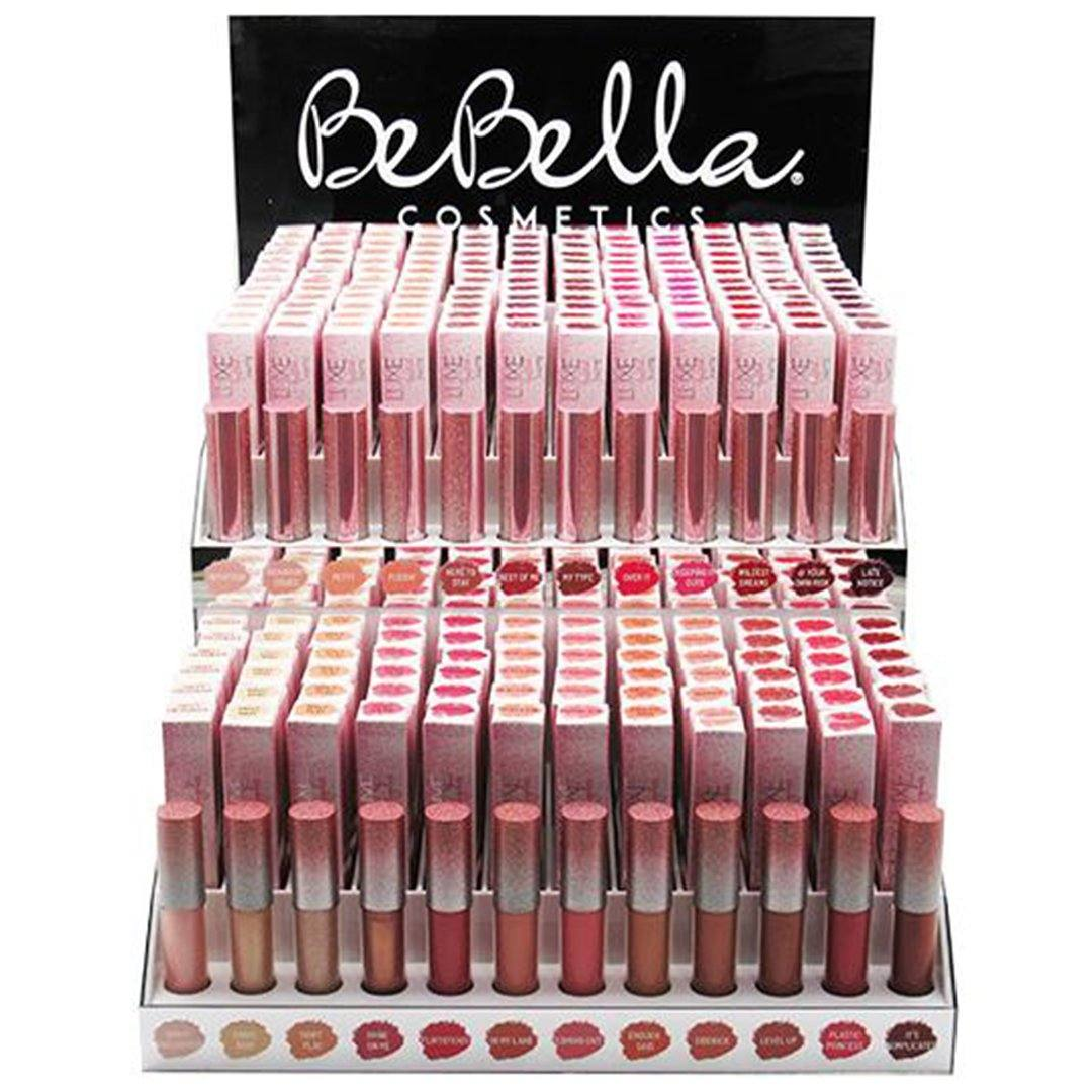 Be Bella Cosmetics Bella Luxe Lip - Wholesale Display 144PCS + 24 Tester