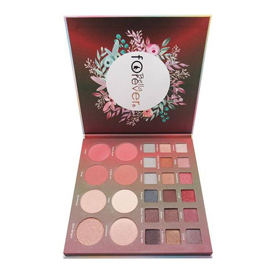 Bella Forever Bella's Makeup 18 Color Eyeshadow Palette Blush - Highlight - Bronzer - Wholesale Display 6PCS (BC-M02)