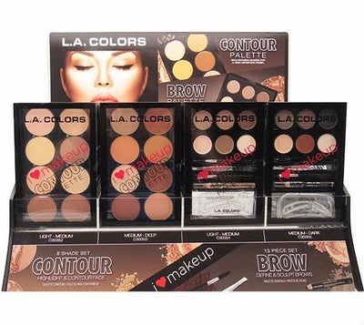 L.A. Colors Contour & Brow Palette Combo - Wholesale Display 48 PCS(CAD-52)