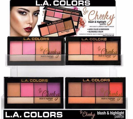 L.A. Colors So Cheeky Blush & Highlighter - Wholesale Display 60 PCS(CAD91.1)