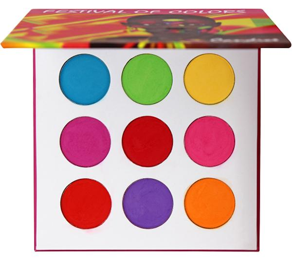 Wholesale Candice Festival Of Colors 9 Colors Eyeshadow Palette Pack 6PCS (CAN-EP9FOC)