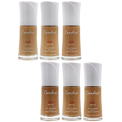 Candice Liquid Foundation 6 Shades Assorte Wholesale Pack 12PCS (CAN-LF24HRS)