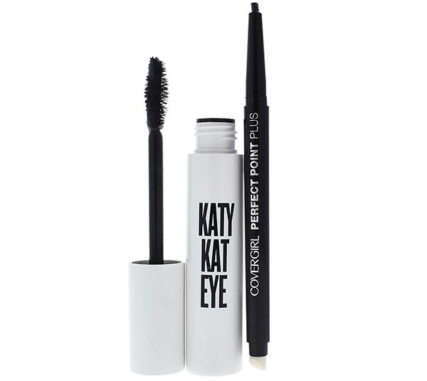 Covergirl Katy Kat Eye Mascara #800 & Perfect Point Plus Eye Pencil #200 - Wholesale Pack 24PCS (CKKE)