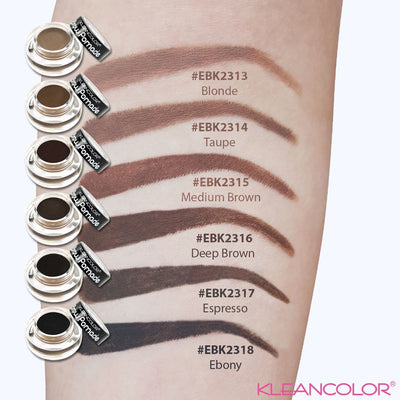Wholesale Kleancolor Brow Pomade 6 Colors Assorted Display 36PCS (EBK2312)