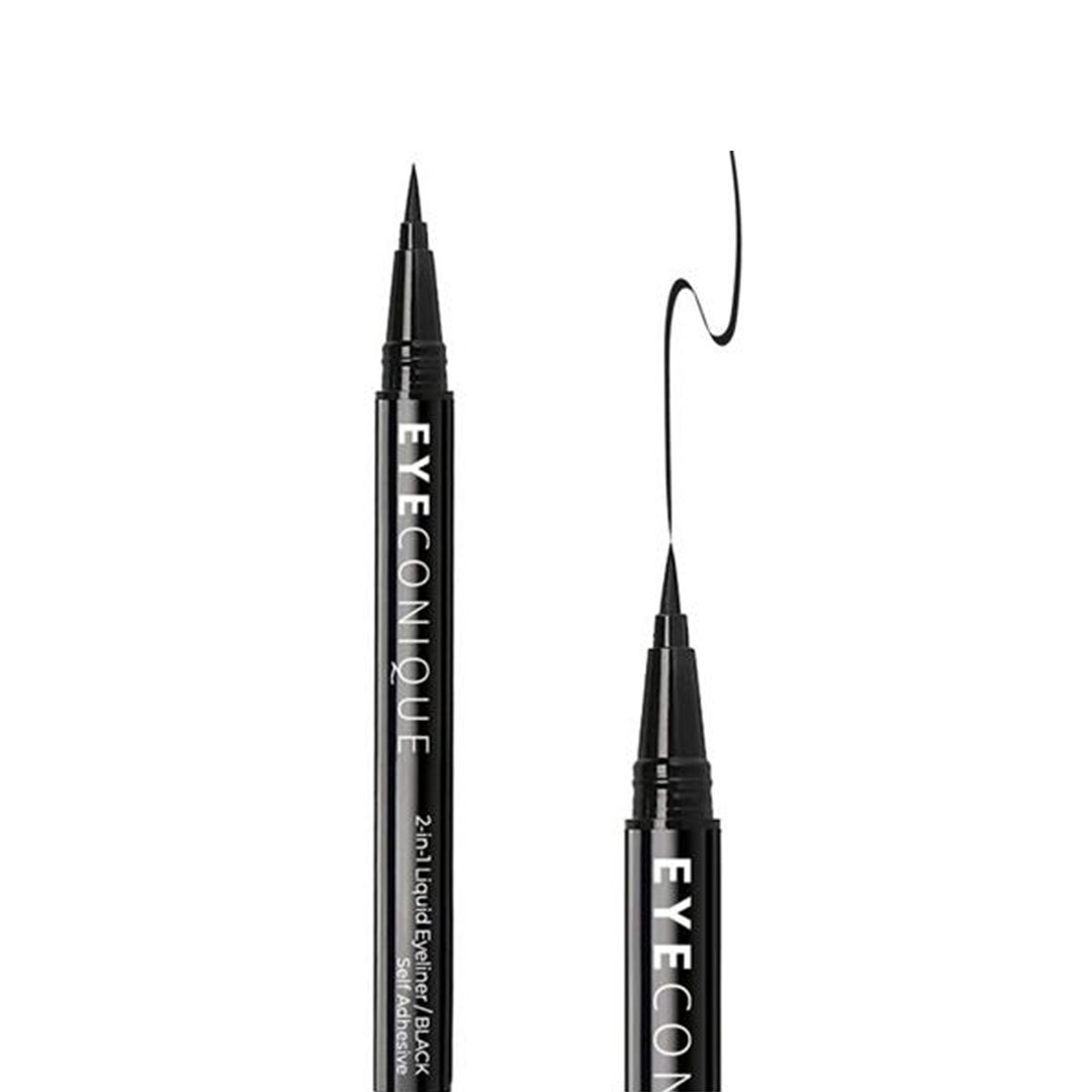 Eyeconique 2 In 1 Liquid Eyeliner & Lash Adhesive Black - Wholesale Pack 12PCS (ELBL)