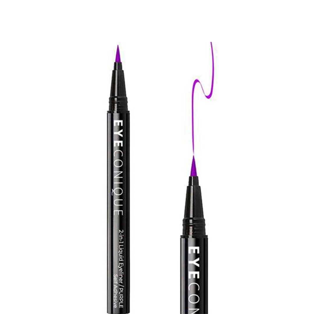 Eyeconique 2 In 1 Liquid Eyeliner & Lash Adhesive Purple - Wholesale Pack 12PCS (ELPU)