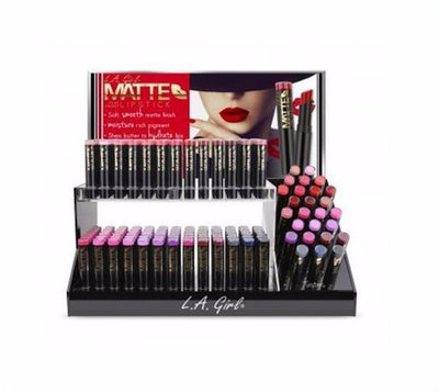 Wholesale L.A Girl Matte Flat Velvet Lipstick Full display (GCD114.1 312 pcs/GCD114 156 pcs)