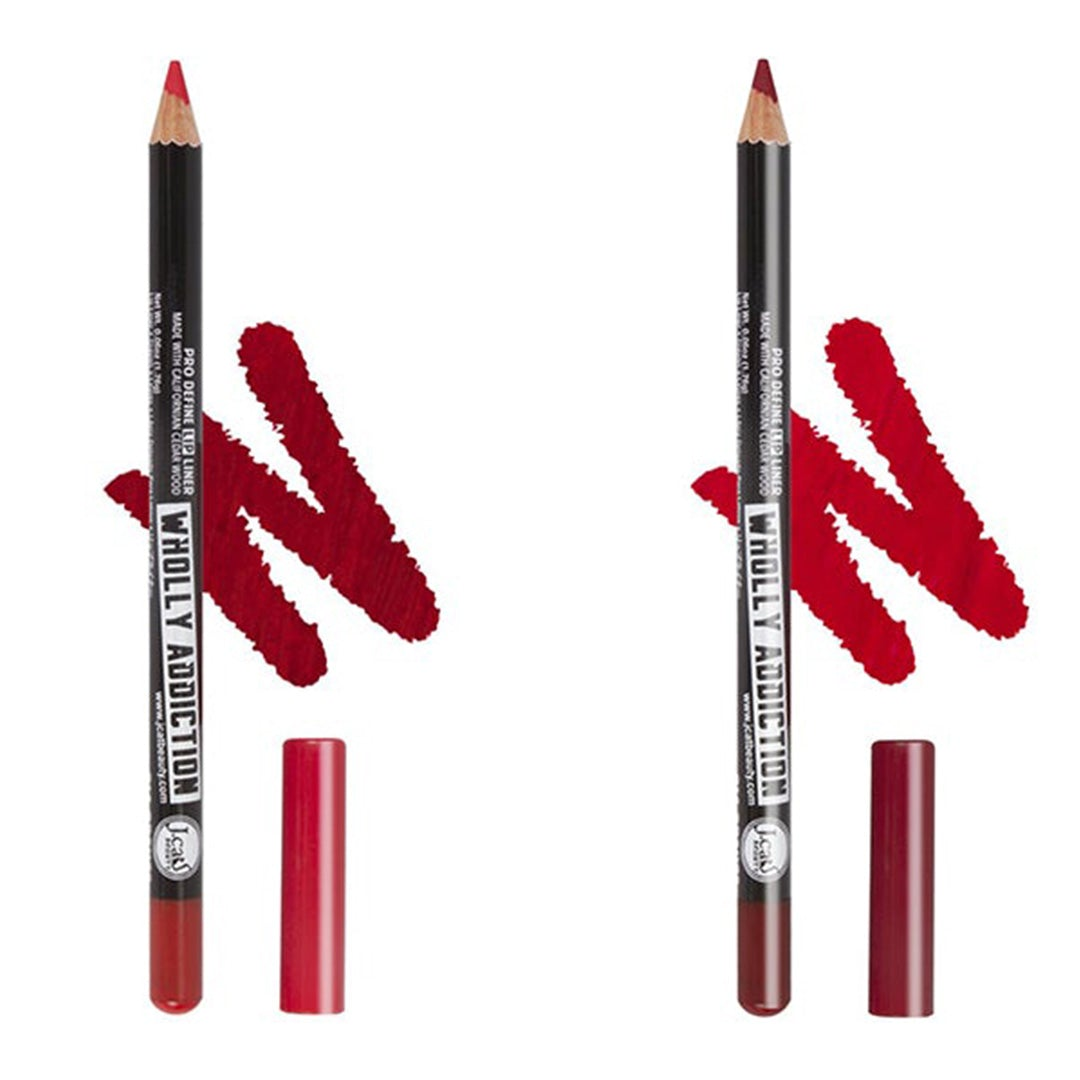J.Cat Beauty Wholly Addiction Pro Define Lip Liner Assorted - Wholesale Pack 30PCS (WL2)