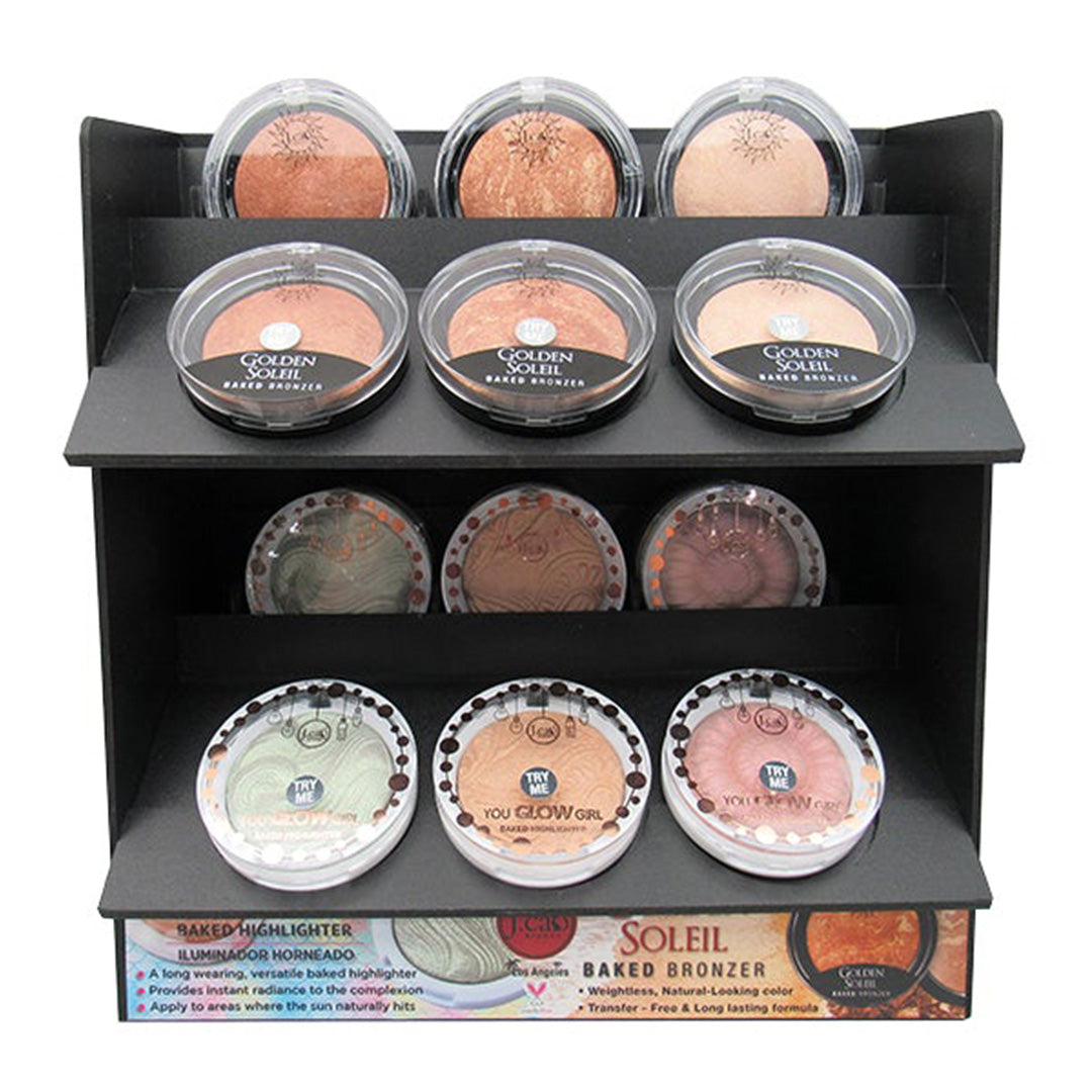 J.Cat Beauty You Glow Girl Baked Highlighter Assorted - Wholesale Display 54PCS + 6 TESTER (YGG1GBBD3-SET)