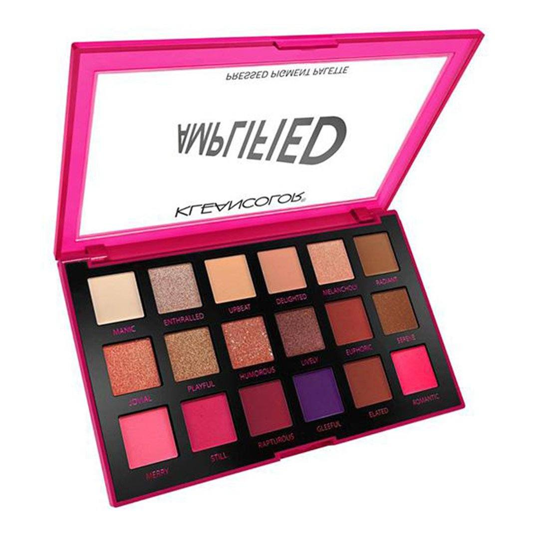 Kleancolor Amplified Pressed Pigment Palette 18 Color - Bachelorette - Wholesale Display 12PCS (ES993)