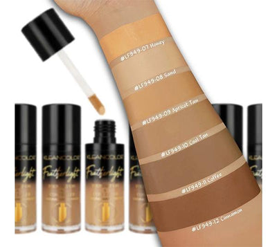 Feather Light Foundation & Concealer Kleancolor - Medium-Tan - Wholesale Display 24PCS (LF949)