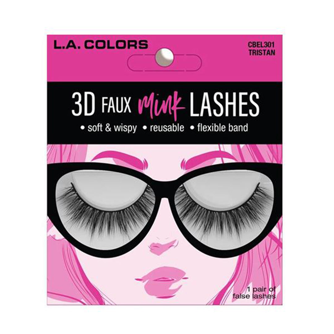 L.A. Colors Faux Mink Lashes Tristan - Wholesale Pack 24PCS (CBEL301W)