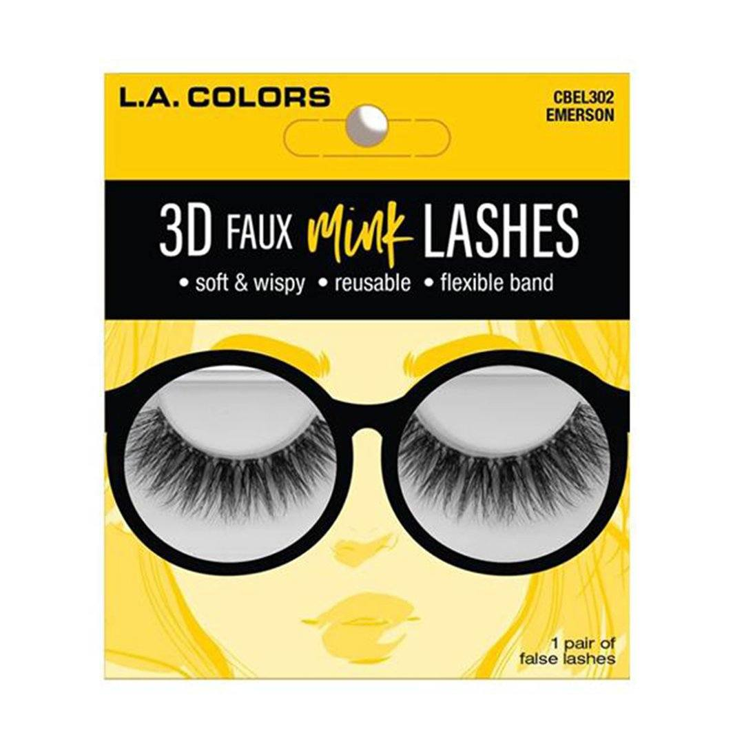 L.A. Colors Faux Mink Lashes Emerson - Wholesale Pack 24PCS (CBEL302W)