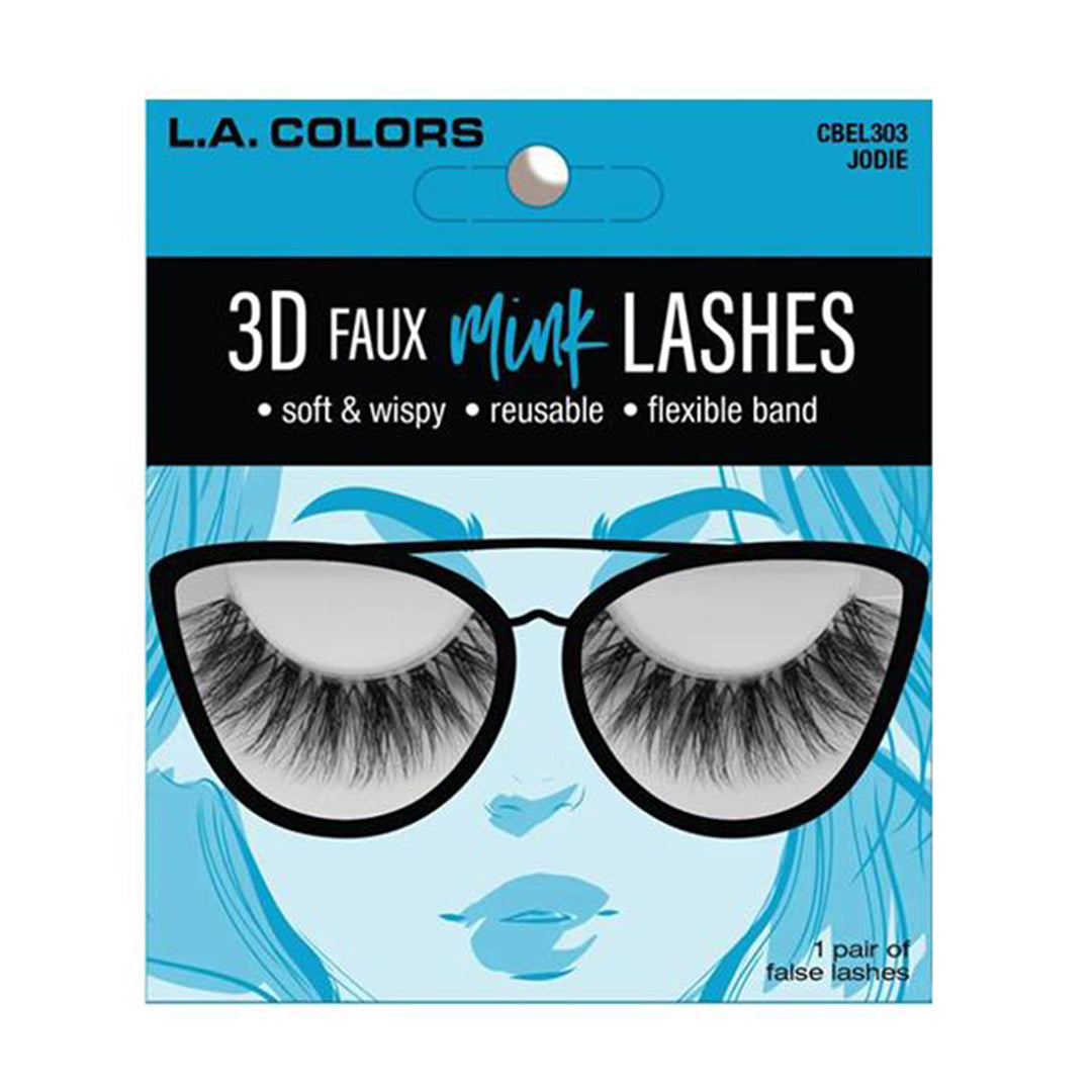 L.A. Colors Faux Mink Lashes Jodie - Wholesale Pack 24PCS (CBEL303W)