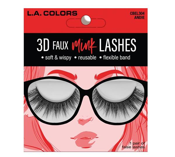 L.A. Colors Faux Mink Lashes Andie - Wholesale Pack 24PCS (CBEL304W)