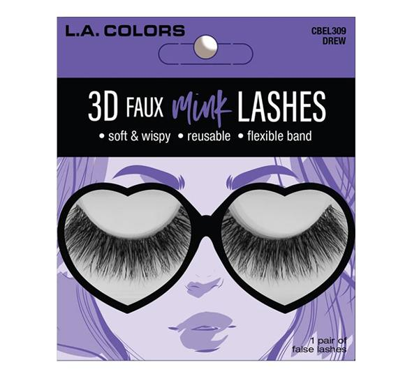 L.A. Colors Faux Mink Lashes Drew - Wholesale Pack 24PCS (CBEL309W)