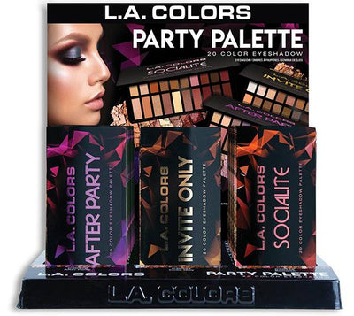 L.A Colors Party Palette Eyeshadow Display 27PCS (CLAC447)