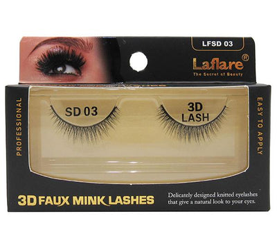 Laflare 3D Faux Mink Lashes - Wholesale Pack 10PCS (LFSD 03)