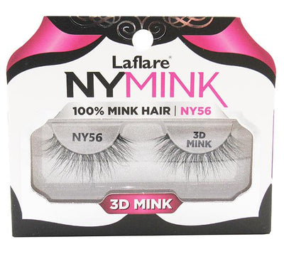 Laflare 3D Mink Lashes 100% Mink Hair - Wholesale Pack 10PCS (NY56)