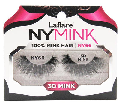 Laflare 3D Mink Lashes 100% Mink Hair - Wholesale Pack 10PCS (NY66)