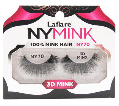 CLaflare 3D Mink Lashes 100% Mink Hair - Wholesale Pack 10PCS (NY70)