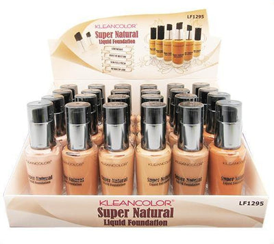 Wholesale Kleancolor Super Natural Liquid Foundation 24PCS DISPLAY (LF1295)