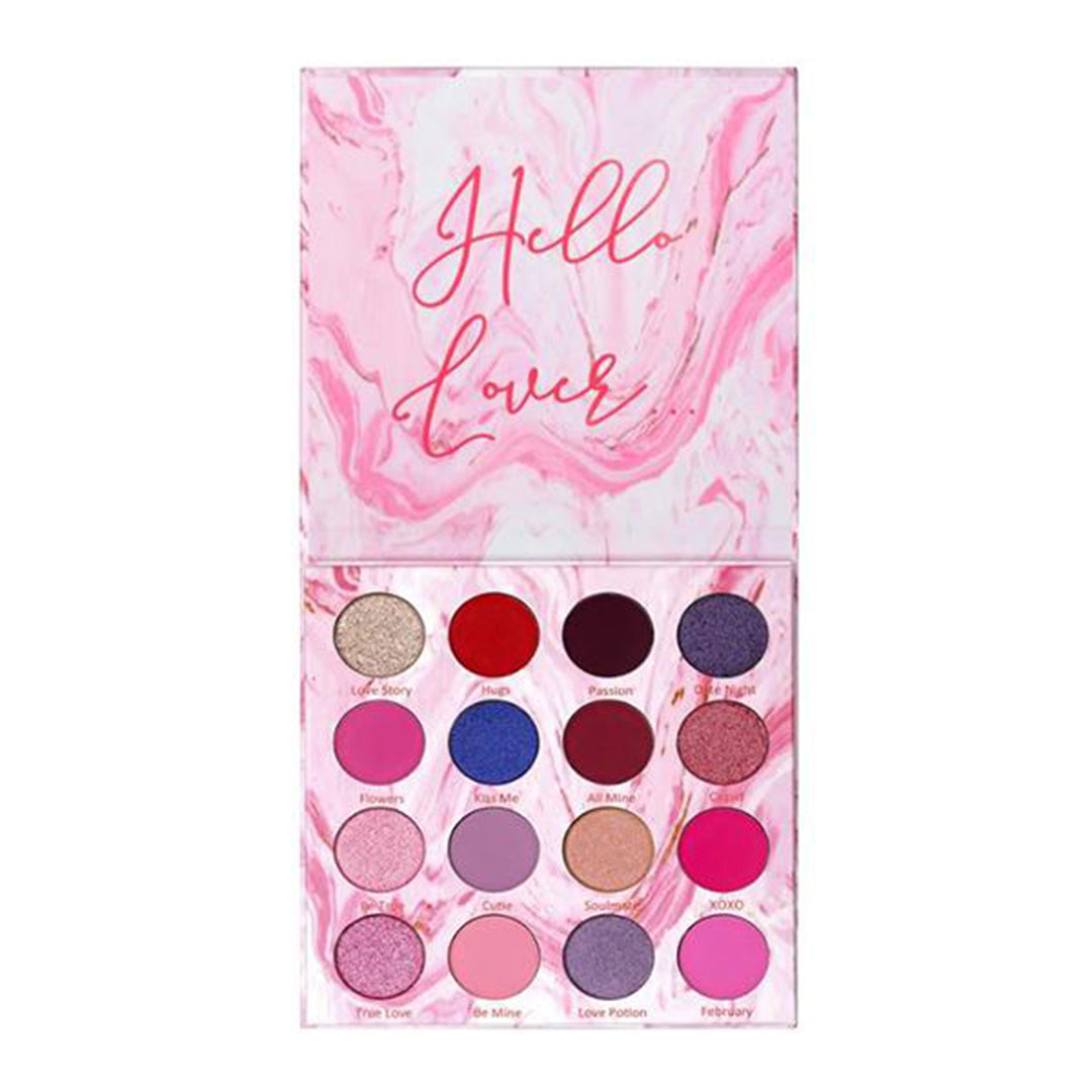 Lurella Cosmetics Sweetheart Eyeshadow Palette - 16 Colors - Wholesale Pack 6PZS (SV16)