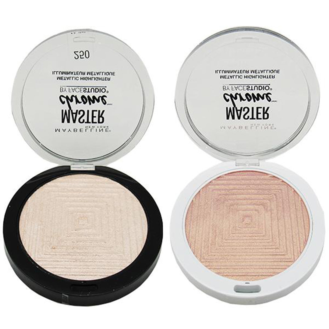 Maybelline Master Chrome Metallic Highlighter Assorted - Wholesale Pack 24PCS (MMCM)
