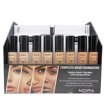 Moira Beauty Complete Wear Foundation 8 Shades - Wholesale