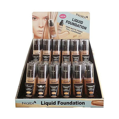 Wholesale Nabi Liquid Foundation Demi Matte Finish Full Coverage Display 36PCS (12 LF SET)