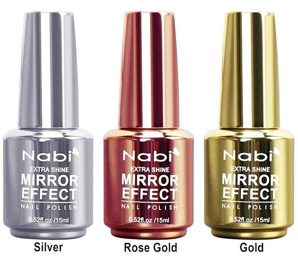 Nabi Extra Shine Mirror Effect Nail Polish - Wholesale Display 24PCS (MNP-24)