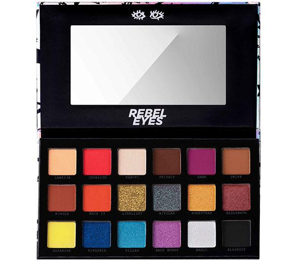 Perplex Rebel Eyes 18 Color Eyeshadow & Pressed Pigment Palette - Wholesale Pack 12PCS (PREE)