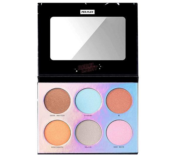 Perplex Rebel light 6 Color Highlighter & Pressed Pigment Palette - Wholesale Pack 12 Pcs (PRLH)
