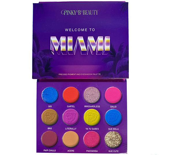 Pinky B Beauty Welcome To Miami Eye Shadow Palette
