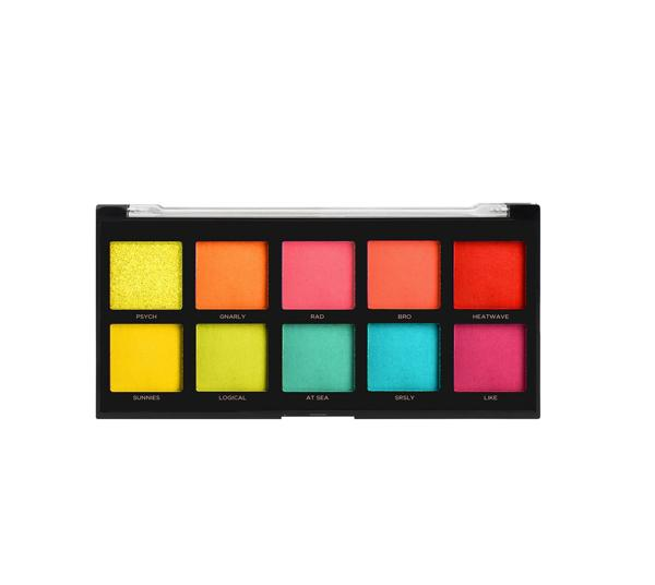 Profusion Neon 10 Shade Palette Eyeshadow - Wholesale Pack 6PCS (1800-2MSET)