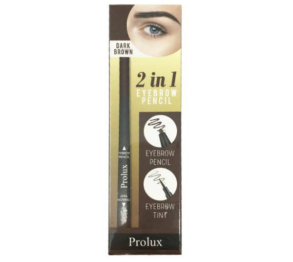 Prolux 2 IN 1 Eyebrow Pencil Dark Brown - Wholesale Pack 12PCS (K-477-02)