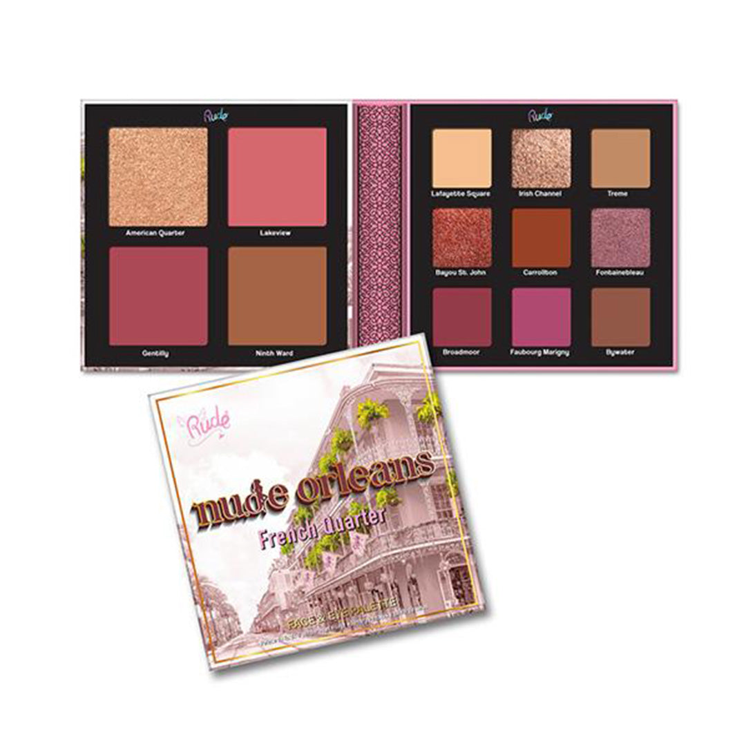 Rude Cosmetics Nude Orleans Face & Eye Palette - Wholesale Pack 6PCS (RC-21048)