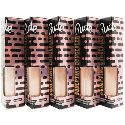 Rude Cosmetics Sculpting Concealer 5 Shades Assorted - Wholesale Pack 30PCS (RC-SCI5)
