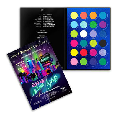 Rude Cosmetics City Of Neon Lights - 24 Vibrant Pigments & Eyeshadow Palette - Wholesale  Pack 6PCS (RC-87960)