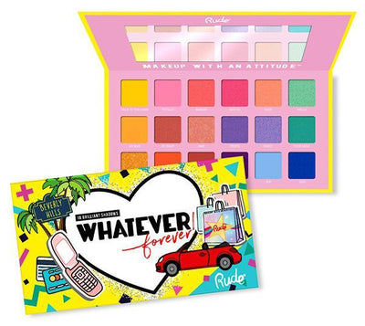 Rude Cosmetics Whatever Forever 18 Eyeshadow Palette - Wholesale Pack 6PCS (RC-88002)