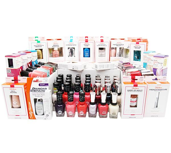 Sally Hansen Nail Polish & Treatment Assorted Box 125PCS - Wholesale (SHNT)