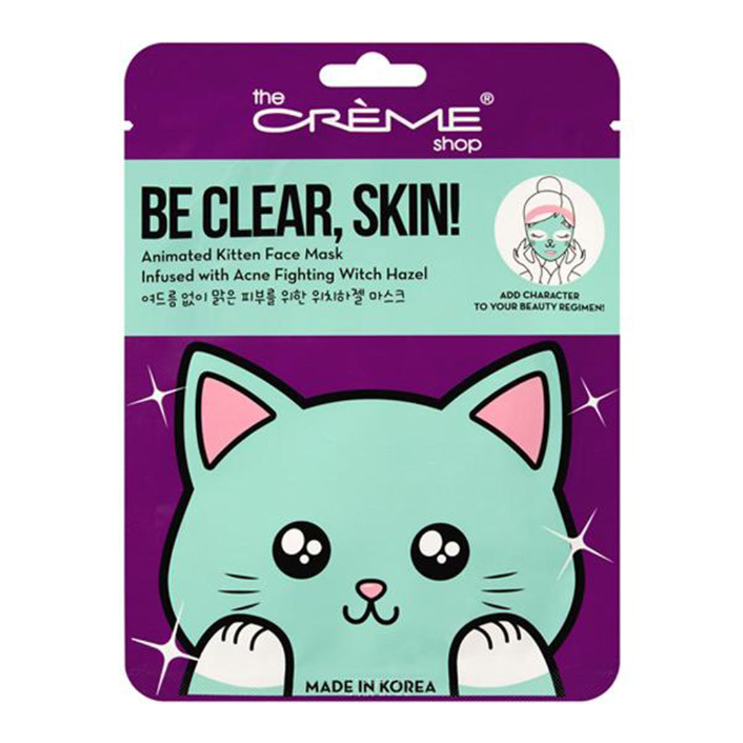 Be Clear Skin Animated Kitten Face Mask